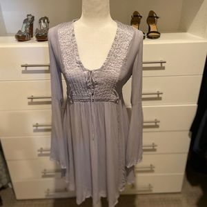 Anthropologie Ghost London Belled Peasant Dress